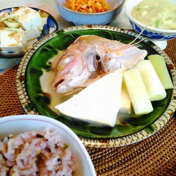白身魚のマース煮 ひろし屋の島豆腐使用
